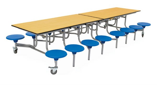 16 Seat Rectangular Mobile Folding Tables
