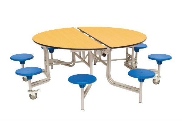 8 Seat Round Mobile Folding Tables