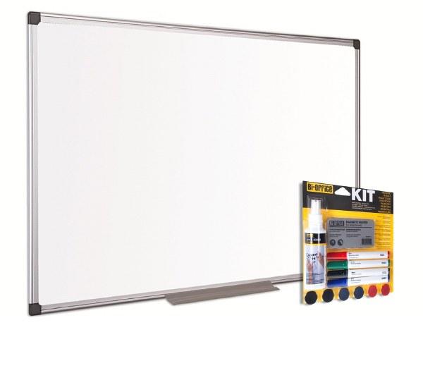 Bi-Office Magnetic Whiteboard and Kit Bundle