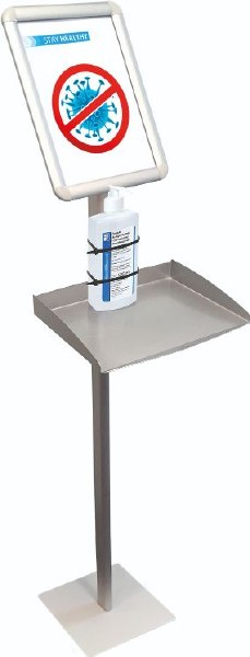 Information Display Stand with Shelf
