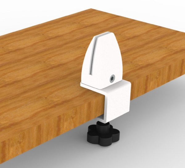 Desk 'C' Clamp for Glass or Acrylic Screens