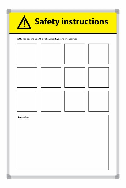 Safety Information Whiteboard