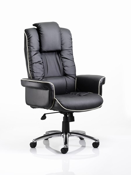 Chelsea Executive Leather Chair Black