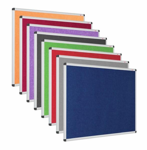Eco-Colour Resist-a-Flame Aluminium Framed Noticeboards