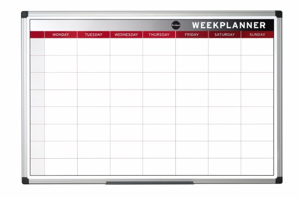 Bi-Office Magnetic Weekly Planner
