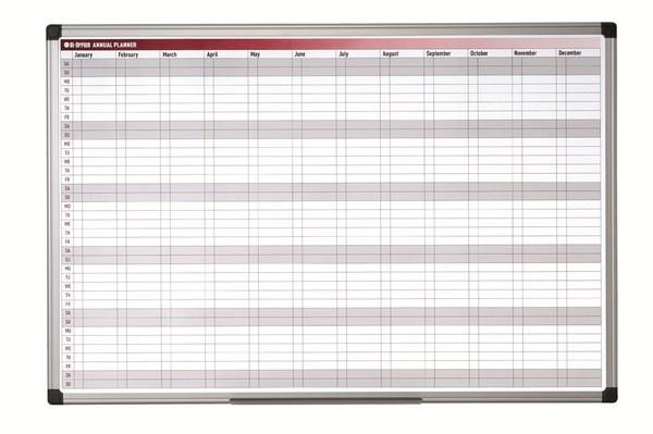 Bi-Office 52 Week Annual Planner 900 x 600mm
