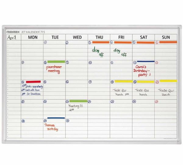 Franken Weekly Calendar Planner