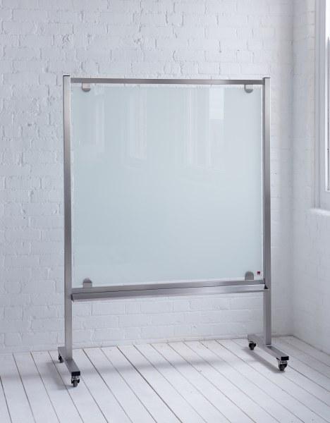 MOBIGLASS Freestanding Mobile Glass Wipe Boards