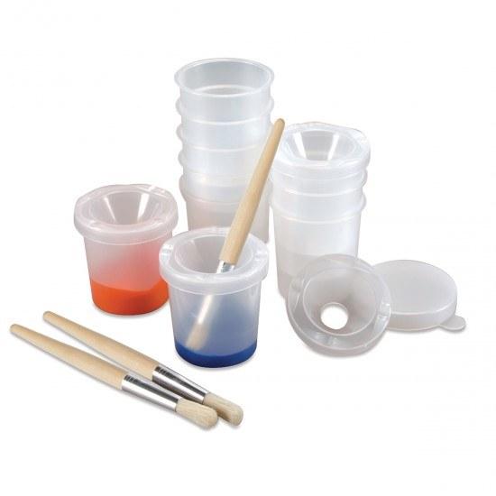 Clear Paint Pots - Set of 8