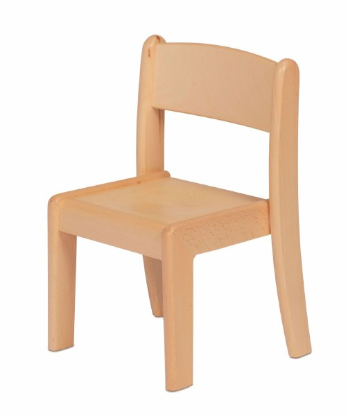Beech Stacking Chairs, Pack of 4