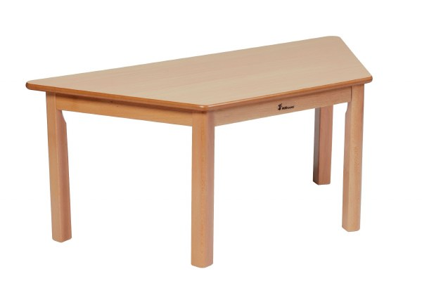 Wooden Trapezoid Tables