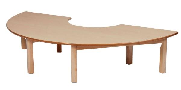 Wooden Semi Circle Tables