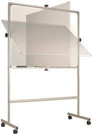 Bi-Office Full Frame Revolving Whiteboard Plain/Plain Non-magnetic 1200 x 900mm