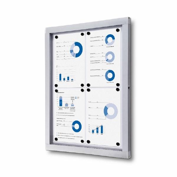 Indoor/Outdoor Lockable Whiteboards