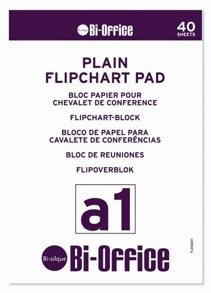 Bi-Office A1 Plain Flipchart Pads Pk5