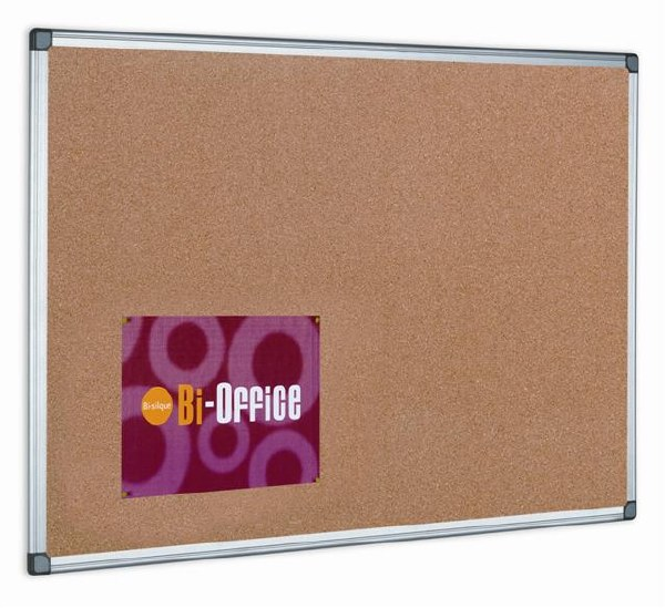 Bi-Office Cork Board Aluminium Frame 900 x 600mm