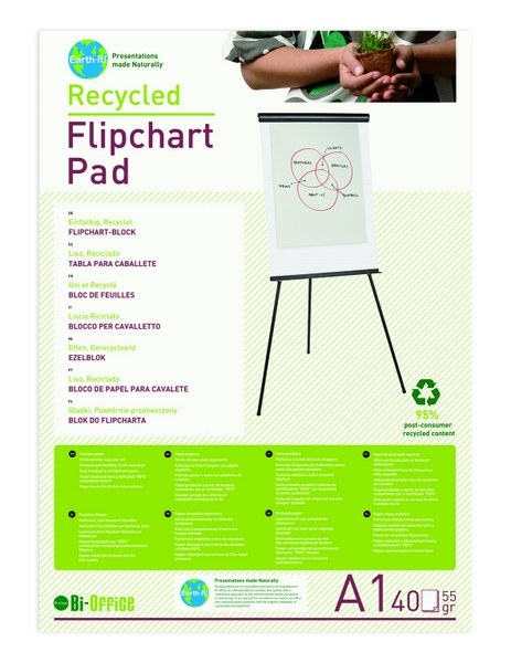 Earth Recycled A1 Flipchart Pads (Pack of 5)
