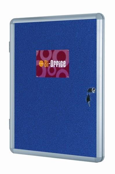 Bi-Office Lockable Felt Display Cases