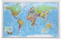 World map with drywipe surface