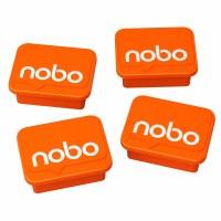 Nobo Whiteboard Magnets Orange Pk 4