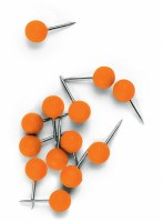 Nobo Noticeboard Push Pin Orange Pk 100
