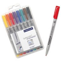 Staedtler Lumocolor Non-Permanent Pens Medium Wallet 8