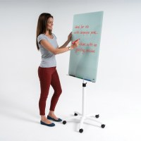 WriteOn® Glass Flipchart Easel