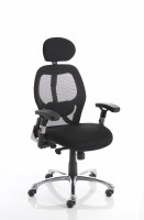 Sanderson Executive Chair Black Airmesh Seat Black Mesh Back