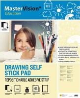 Bi-Office Self-Stick Drawing Pads Pack of 2