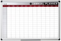 Bi-Office Magnetic Annual Planner 900 x 600mm