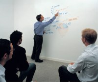 Flexible Whiteboard Wall Covering