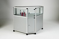 Glass Counter Display Corner Unit