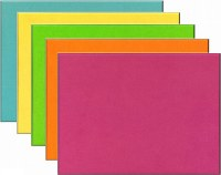 Unframed Bright Coloured Felt Noticeboards