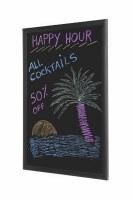 Bi-Office Chalkboard Black Frame 400 x 300mm