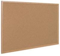 Bi-Office Cork Boards Oak Effect Frame