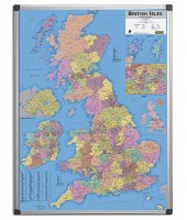 Magnetic Drywipe British Counties Map