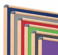 Shield Wood Effect Alu Frame Eco-Colour Noticeboards