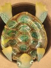 Birdbath, Turtle, Metal