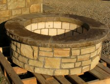 Fire Pit, Short Round, W/Ven