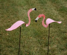 Statuary, Flamingo with Spring
