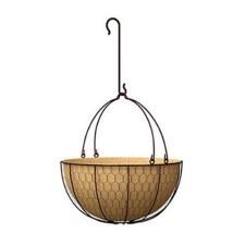 Hanging Basket, Rustic Burlap
