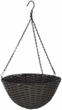 Hanging Basket, Tuscan Wicker