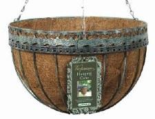 "Hanging Basket, Victorian, 14"""