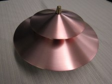 Light, N Footliter Top Copper