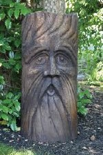 Statuary, Bearded Barley Face