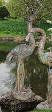 Statuary, Crane Male Plumbed