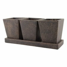 Planter, Trio Garden with Tray