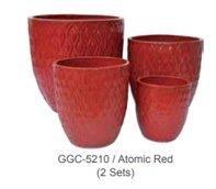 "Pottery, Glazed Coral 14"" AR"