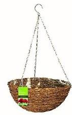 Hanging Basket, Rustic Rattan