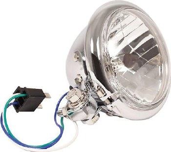 Headlight 4 1/2 Halogen Bottom